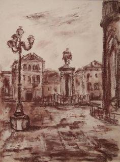 Campo S.Giovanni e Paolo Drawing Pastel Drawing, Venice, Buy Art, Paper Art, Saatchi Art, Original Art, Fine Art, Portrait, The Originals