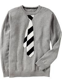 Boys Necktie-Graphic Sweaters | Old Navy