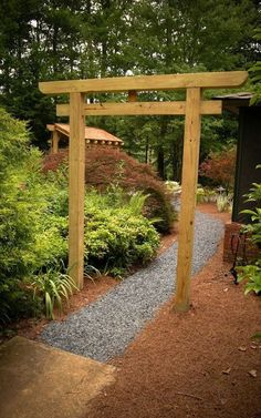 Stunning Creative DIY Garden Archway Design Ideas - Rockindeco - Stunning Creative DIY Garden Archway Design Ideas 10 You are in the right place about garden seating - Garden Archway, Garden Arbor, Bonsai Garden, Diy Garden, Garden Bridge, Garden Gate, Garden Bed, Japanese Gate, Small Japanese Garden