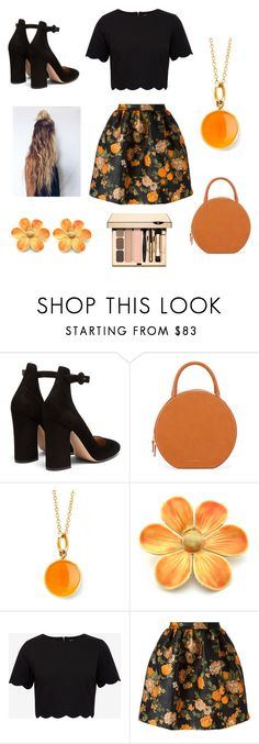 """wild flower"" by stylesbybeth ❤ liked on Polyvore featuring Gianvito Rossi, Mansur Gavriel, Syna, Ted Baker and MSGM"