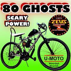CDHPOWER 2 stroke silver gas bicycle engine kit-Super PK80-66cc//80cc black head