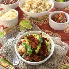 Naked Chicken Burrito Bowls | Teaspoonofspice.com