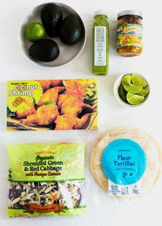 Recipe: Easy tacos with Trader Joe's Coconut Shrimp and Island Salsa. Five-Ingredient Trader Joe's Tacos - Trader Joe's, Trader Joes Food, Trader Joe Meals, Gourmet Recipes, Mexican Food Recipes, Vegetarian Recipes, Cooking Recipes, Healthy Recipes, Soup Recipes