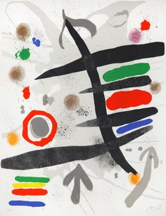 Le Perseides I by Joan Miró 1970 Lithograph, in colors on Rives vellum 25 х 19 in. (63.5 x 48.26 cm.) Signed, and numbered, in pencil