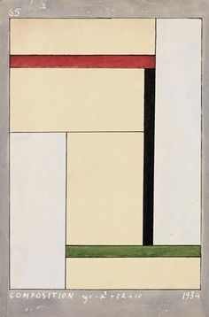 Georges Vantongerloo, Composition y=-x2+3x+10, 1934. This guy really was a genius. I did a studies in trying to solve this equation, but this guy was far too intelligent (compared to me) :-] Too bad I can't have a conversation with him anymore.
