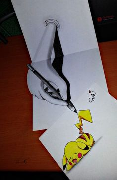 REAL 3D A HAND DRAWING PIKACHU by ~SudiLin on deviantART