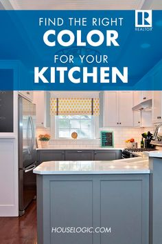 Kitchen Color Schemes: How to Avoid Kitschy Colors The best color for your kitchen might not be your favorite one. Instead, opt for a neutral color scheme using bold colors as accents. Read HouseLogic for more color tips. Kitchen Colour Schemes, New Kitchen, Kitchen Colors, Kitchen Renovation, Home, Kitchen Remodel, Kitchen Redo, Kitchen Design, Home Remodeling