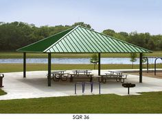 Square Hip Roof Shelter