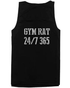 Gym Rat 24/7 365 Back Print Men's Tank Top