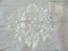 stencil on canvas drop cloth