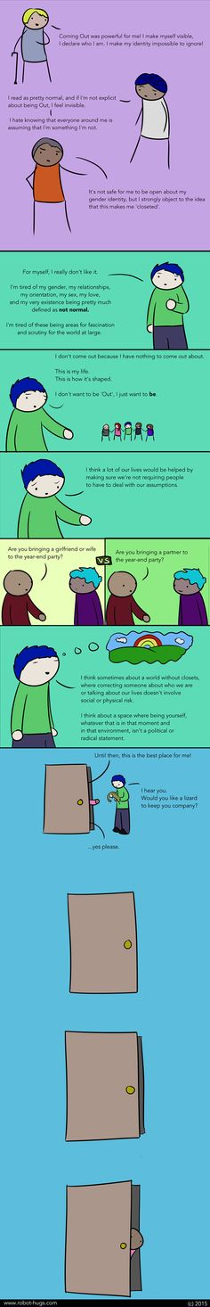 The Whole Truth of Coming Out of the Closet – In a Comic — Everyday Feminism