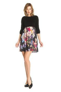 Image 1 - Craquez sur cette originale robe effet. Robe Goguenard couleur noir Derhy