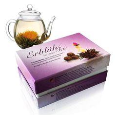 Der Erblühtee ist ein leckeres Teegeschenk für Teetrinker zum Geburtstag, als Dankeschön oder zu einer Einladung. Tee auf originelle Weise für Genießer.