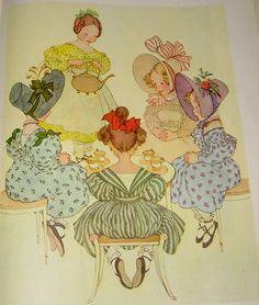 Polly Put the Kettle On  --      Sing Mother Goose  Illustrated by Marjorie Torrey  1945