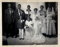 The Wedding Party  Toledo, Ohio, 1940's  [Black Bride Series]  ©WaheedPhotoArchive, 2013