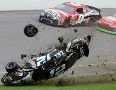 It has been awhile since we posted any videos or photos of NASCAR wrecks. We know what you people like. Check out this gallery of 25 nasty NASCAR crashes. Sports Car Racing, Nascar Racing, Drag Racing, Auto Racing, Nascar Crash, Nascar Sprint Cup, Nascar Wrecks, Ryan Newman, Weird Cars