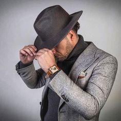 Grey on grey. Men's style