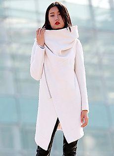 Готовая выкройка пальто с высоким воротом | Выкройки онлайн и уроки моделирования