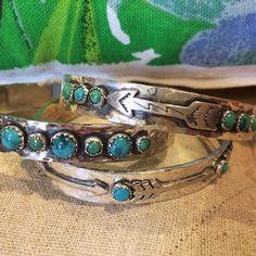Richard Schmidt Sterling Silver Arrow & Turquoise Stone Cuff | www.sabiboutique.com #followyourarrow #shopsabi #love