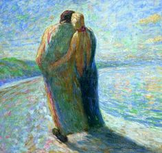 Emil Nolde ~ Couple on the Beach, 1903