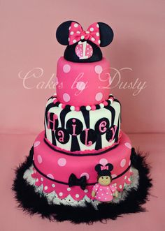 Cakes by Dusty: Hailey's Minnie Mouse Cake