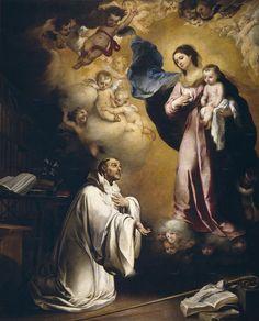 Aparición de la Virgen a San Bernardo, de Murillo, 1655.