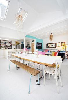 colorful dining designs design room design house design home design Home Interior, Kitchen Interior, Interior Decorating, Design Kitchen, Decorating Ideas, The Design Files, Open Plan Living, Home Fashion, Style At Home