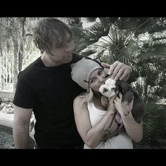 Dean and Renee with their adorable doggy