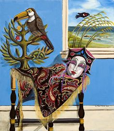 Title:  Mardi Gras In The Living Room  Artist:  Susan Culver  Medium:  Painting - Acrylic On Canvas