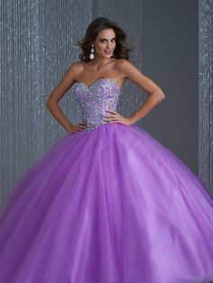 Cheap cheap quinceanera, Buy Quality cheap quinceanera gowns directly from China sweet 16 dresses Suppliers: High Quality Cheap Quinceanera Gowns 2015 Sweetheart Sparkling Beaded Debutante Gown Ball Gown Sweet 16 Dress Organza Lilac Prom Dresses, Violet Dresses, Quince Dresses, Sweet 16 Dresses, Prom Dresses Online, Dressy Dresses, Ball Gown Dresses, Dresses For Teens, 15 Dresses