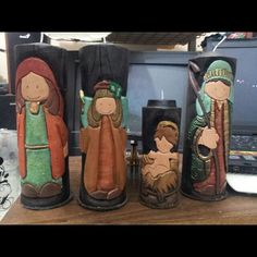 Nacimiento 4 velas Candle Molds, Christmas Nativity, Diy Candles, Candle Making, 3d Printing, Soap, Carving, Templates, Cakes