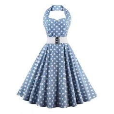 SHARE & Get it FREE | Retro Halter Sweetheart Neck Polka Dot Flare DressFor Fashion Lovers only:80,000+ Items·FREE SHIPPING Join Dresslily: Get YOUR $50 NOW!