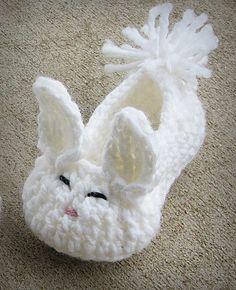 Hoppy Easter Bunny, Crochet Baby Shoe