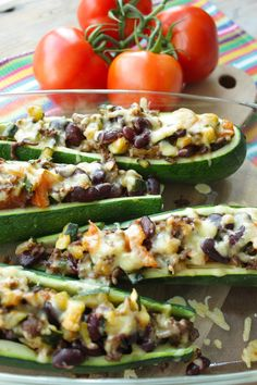 Mexican stuffed courgette | Mexicaanse gevulde courgette | Recipe on www.francescakookt.nl