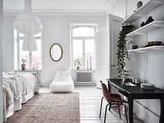 Белоснежный интерьер шведской квартиры (98 кв. м)   Пуфик - блог о дизайне интерьера