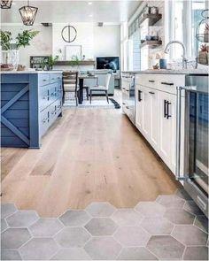 Best Tiles For Kitchen, Kitchen Tiles, Kitchen Decor, Concrete Kitchen Floor, Kitchen Floor Mats, Best Kitchen Flooring, Kitchen Floor Tile Patterns, Design Kitchen, Luxury Kitchens