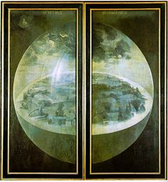 Hieronymous #Bosch, Creation of the world (1504) - Definitely an #artist ahead of his time...!