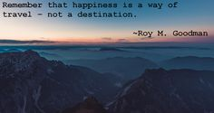 Great words from Roy M. Goodman!