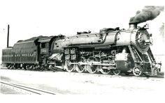 Norfolk and Western Railroad engine 128 at Bristol, VA