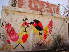 Japanese Street Art: Don't tell my landlord, but I wish someone would paint this on our front wall.