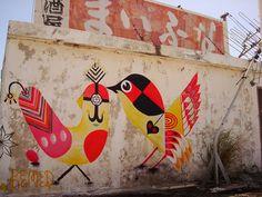 oiseaux avec motifs ornementaux