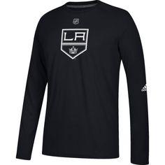 adidas Men s Los Angeles Kings Primary Position Ultimate Black Long Sleeve  Shirt 14b660d4d
