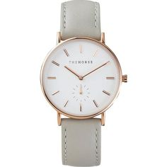The Horse Classic Rose Gold Watch | White/Grey