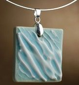 Image of Necklace:  Aqua Textured Necklace