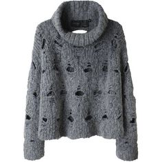 Rachel Comey Cozy Grey Deconstructed Bell-shaped Turtleneck sweater