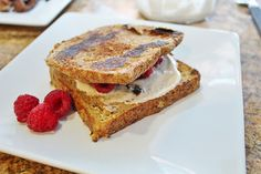Orange cashew cream stuffed french toast (vegan).  Delicious, plus no added sugar but TONS of flavor.