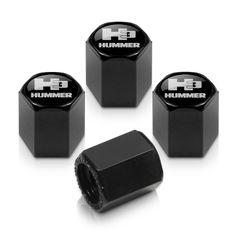 Chyrsler Hemi C Black Tire Stem Valve Caps