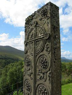 Gravestone at Cille Choirill, near River Spey, Scotland.  Photo by Susan Pogany.