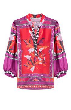 DIANE VON FURSTENBERG Printed Silk Blouse. #dianevonfurstenberg #cloth #blouses