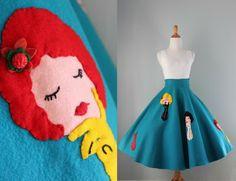 Novelty Felt Circle Skirt Tutorial! | Technicolor Cutie